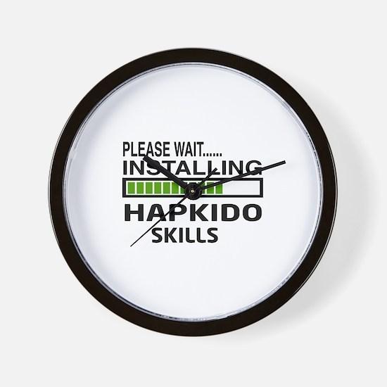Please wait, Installing Hapkido skills Wall Clock