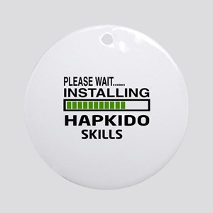 Please wait, Installing Hapkido ski Round Ornament