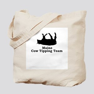Maine Cow Tipping Tote Bag