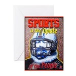 Sports is the Opiate Greeting Cards (Pk of 10)