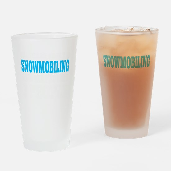Funny Snowmobile Drinking Glass