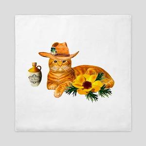 Cowboy Cat Queen Duvet