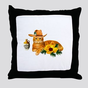 Cowboy Cat Throw Pillow