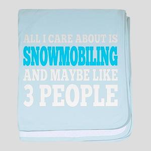 Snowmobile baby blanket