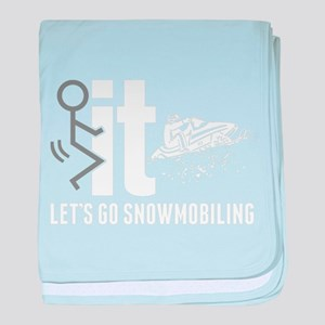 Snowmobile baby blanket