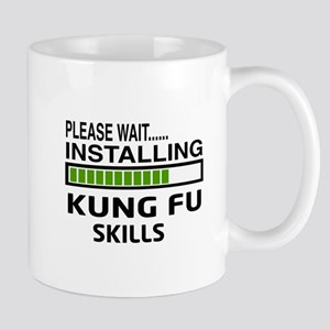 Please wait, Installing Kung Fu skills Mug