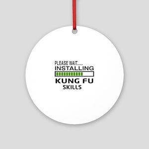 Please wait, Installing Kung Fu ski Round Ornament