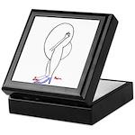 HEAD-UP-BUTT-GIRL - Tile Top Mahogany Box