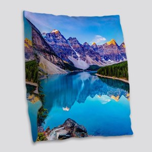 Beautiful Mountain Landscape Burlap Throw Pillow