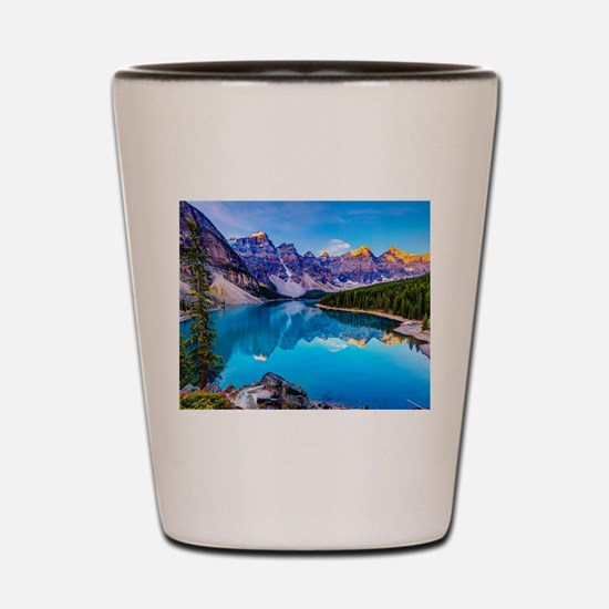 Beautiful Mountain Landscape Shot Glass