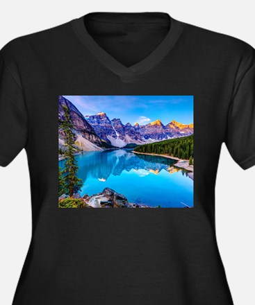 Beautiful Mountain Landscape Plus Size T-Shirt