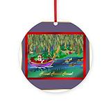 Cajun christmas Round Ornaments