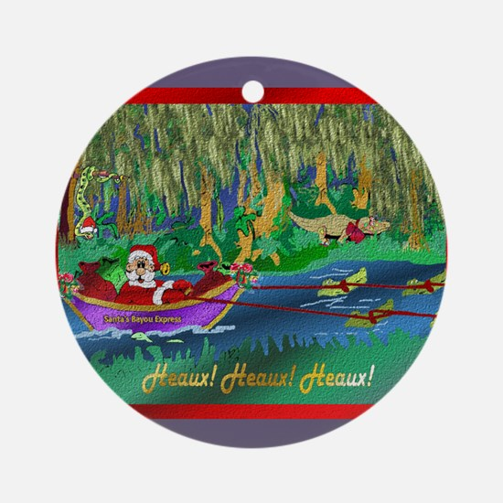 Cajun Santa 9 Round Ornament