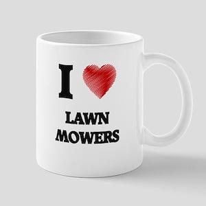 I Love Lawn Mowers Mugs