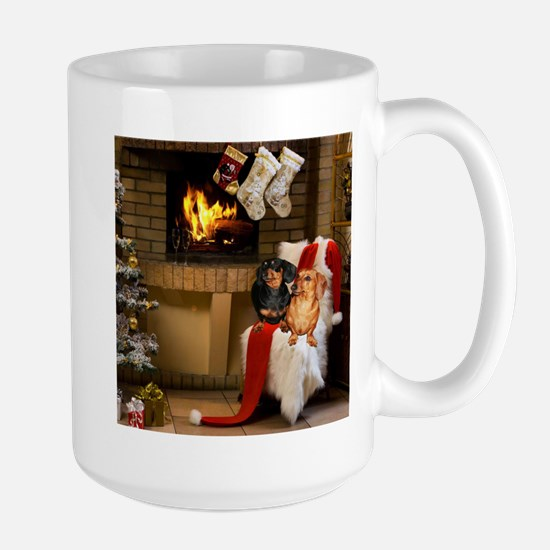 By the Fireplace Doxies Mugs