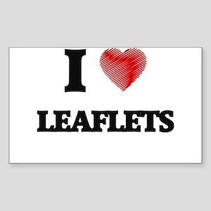 I Love Leaflets Sticker