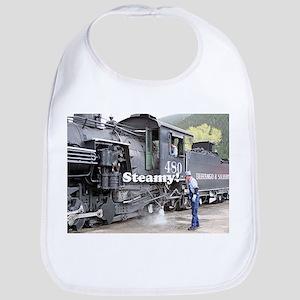 Steamy!: steam train engine, Colorado 11 Bib