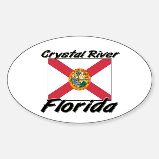 Crystal River Florida Oval Decal