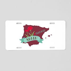 Madrid Spain Aluminum License Plate