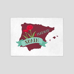 Madrid Spain 5'x7'Area Rug