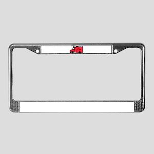 Feuerwehrauto License Plate Frame