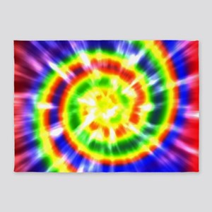 Retro Tie Dye - Groovy Colors 5'x7'Area Rug