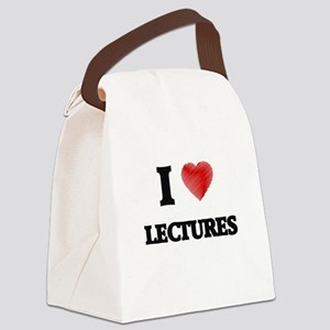 I Love Lectures Canvas Lunch Bag