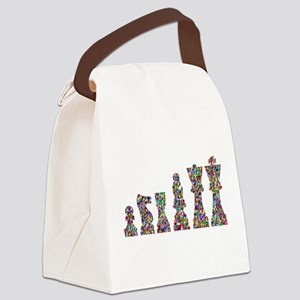 Prismatic Rainbow Chess Canvas Lunch Bag