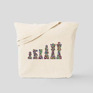 Prismatic Rainbow Chess Tote Bag