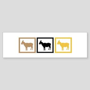 Goat Squares Sticker (Bumper)