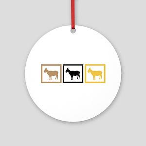Goat Squares Ornament (Round)