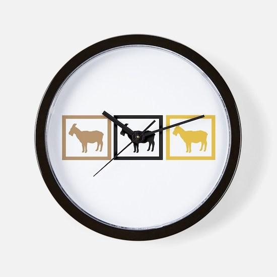 Goat Squares Wall Clock