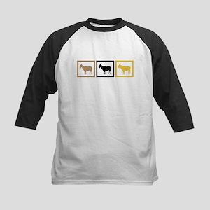Goat Squares Kids Baseball Jersey