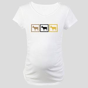Goat Squares Maternity T-Shirt