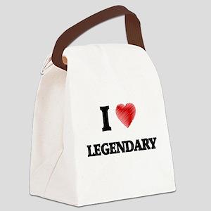 I Love Legendary Canvas Lunch Bag
