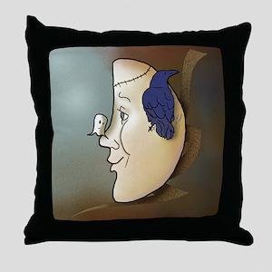 """Halloween Moon"" Throw Pillow"
