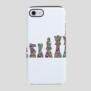 Prismatic Rainbow Chess iPhone 8/7 Tough Case