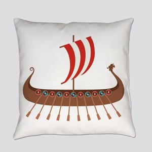 Viking Boat Everyday Pillow