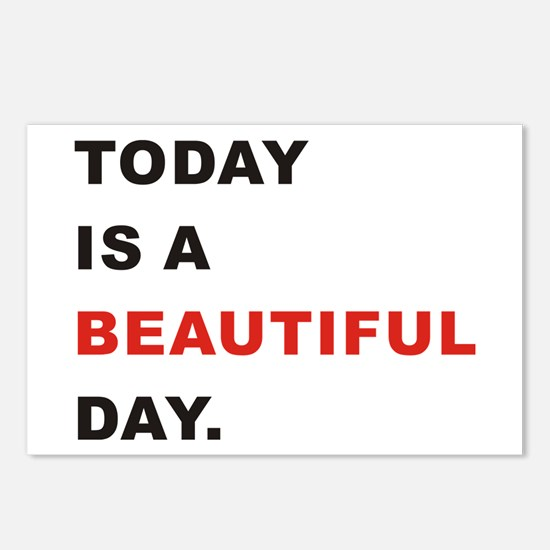 Today is a beautiful day Postcards (Package of 8)