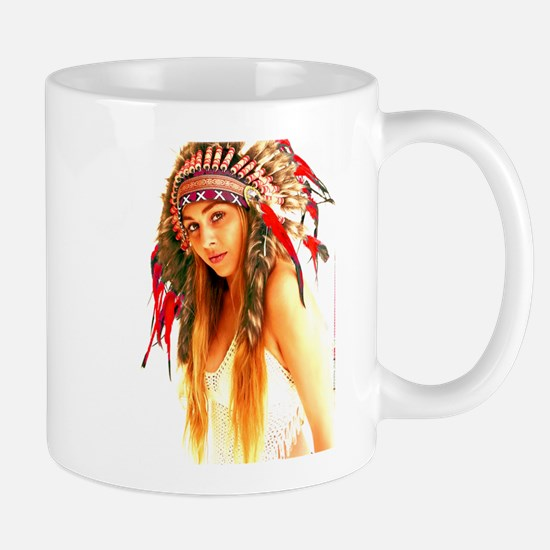 Unique Native american woman Mug