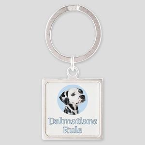 Dalmatians Rule Square Keychain