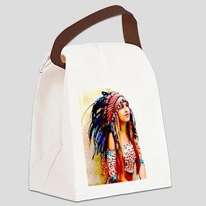Natasha Canvas Lunch Bag