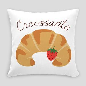 Croissants Everyday Pillow