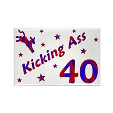 Kicking Ass 40 * Rectangle Magnet