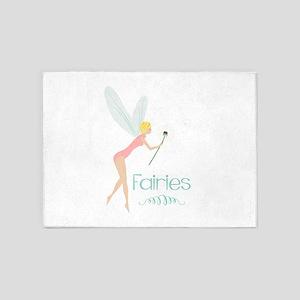 Summer Fairies 5'x7'Area Rug