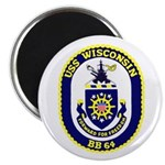 "USS Wisconsin (BB 64) 2.25"" Magnet (100 pack)"