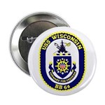 "USS Wisconsin (BB 64) 2.25"" Button (10 pack)"