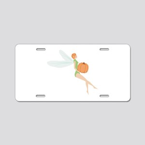 Pumpkin Fairy Aluminum License Plate