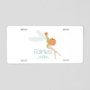 Fall Fairies Aluminum License Plate