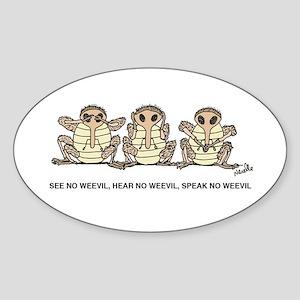 See No Weevil Sticker